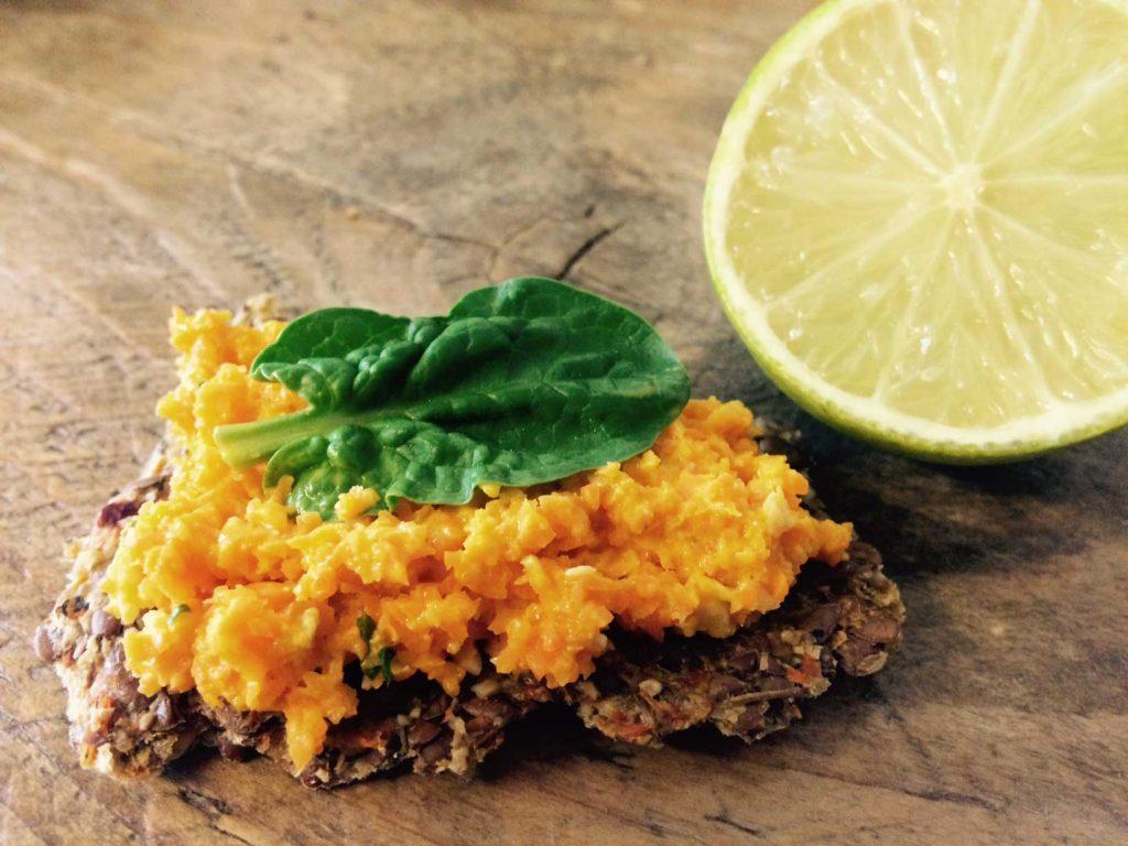 Raw carrot pate